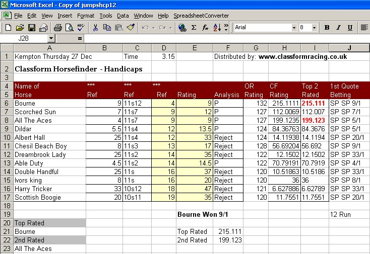 Downloads - Horse Racing Software Horse Racing Systems
